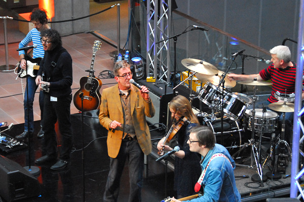 The Bluebells during their soundcheck for the BBC Scotland Children in Need Show 2011.
