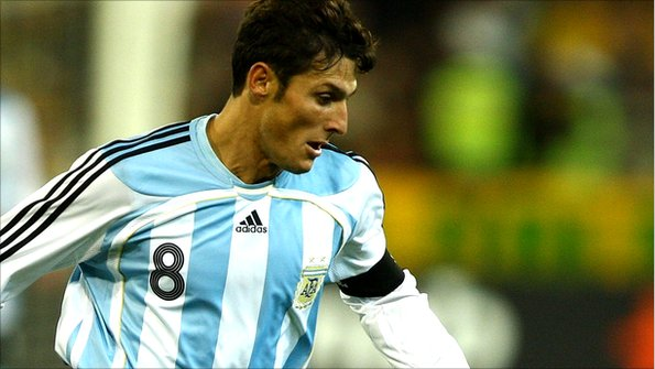 Javier Zanetti playing for Argentina