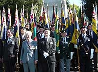 Veterans at the Commemoration Service in the Memorial Gardens in Dublin