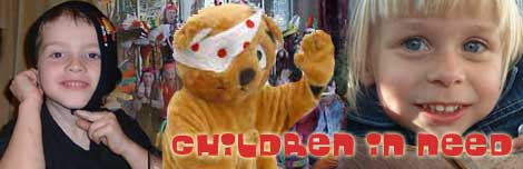 Children in Need 2003  - from left to right - Jack, Pudsey, Oceana