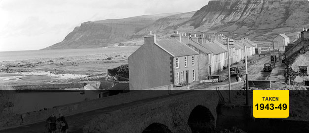 Waterfoot village in the Glens of Antrim.
