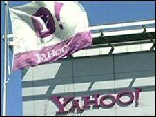 Yahoo flag and sign