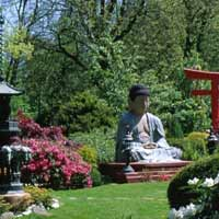 A Japanese-style Buddhist garden in Europe