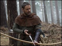 Russell Crowe as Robin Hood in the new film