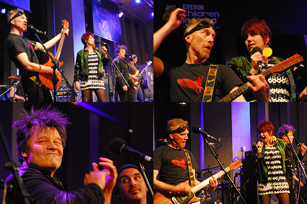 The Rezillos performing at the BBC Radio Scotland Children in Need Special