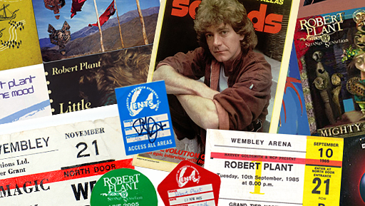 Various items of Robert Plant memorabilia