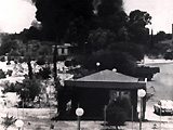 Air strike by Turkish Air Force on Nicosia Airport dring their invasion of Cyprus, 1974.