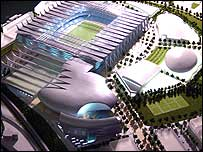 Model of the Super Stadium