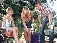 Picture: Louise, Holly and Jake playing Lawn Darts: link