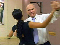 Alesha Dixon and Vince Cable