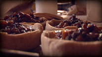 Add mincemeat to pies