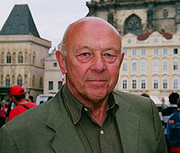 John Tusa in Prague during the making of this programme