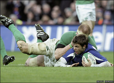 Clerc scores against Ireland