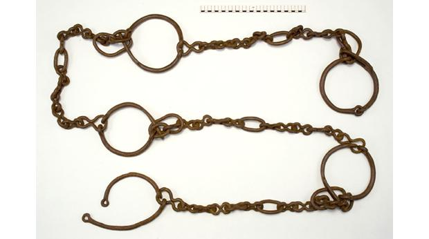 Iron slave-chain from Llyn Cerrig Bach, Anglesey; Copyright: The National Museum of Wales
