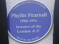 Phyllis Pearsall - blue plaque