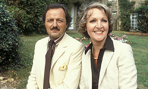 Peter Bowles and Penelope Keith in the Eighties version of To The Manor Born