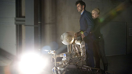 David Tennant and Lindsay Duncan in Doctor Who: The Waters Of Mars