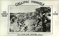 A picture of an Australian postcard from Gallipoli