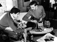 Special Effects men working on Quatermass II.