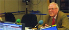 Peter Hennessy in the Today studio