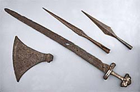 Image of Viking weapons