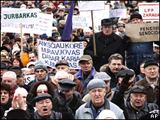 Lithuanian protest over economy