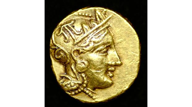Rare gold coin of Athens