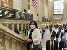 woman wearing mask at Grand Central Station, New York