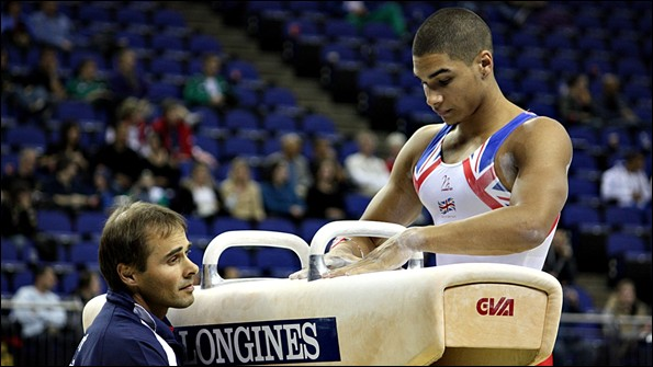 Louis Smith (right) with coach Paul Hall