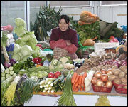 Chinese vegetable stall