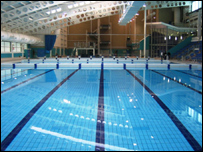 Bbc leeds sport leeds aquatics centre for Leeds international swimming pool
