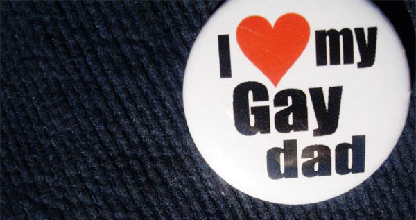gay dad badge