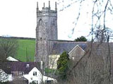 Image of the exterior of St Mary's at Tedburn St Mary in Devon