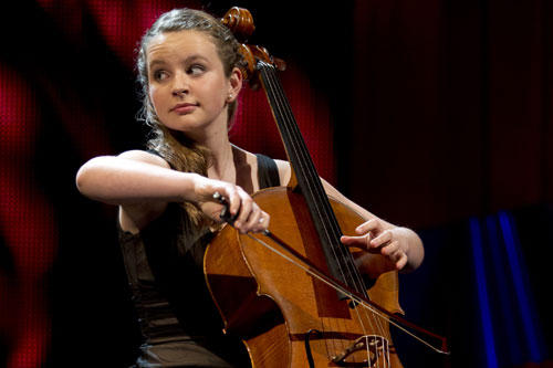 This years strings category winner and semi-finalists Laura Van Der Heijden playing the cello