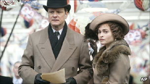 Colin Firth and Helena Bonham-Carter in the King's Speech