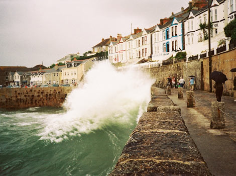 Rough sea at Porthleven by Martin