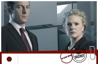Mark Brydon (Jason Isaacs) and Lynne Warner (Sharon Gless)