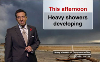 A new Saturday lunchtime weather bulletin, bringing a distinctly showery forecast!