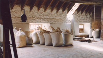 Milled flour from Golspie Mill, Sutherland, Scotland