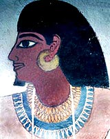 Photo of tomb painting of dignitary of ancient Egypt
