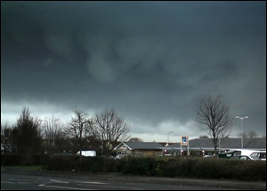 Hail falls from a Cumulonimbus over Bradley Stoke in 2008. Similar scenes for some tomorrow (Saturday)?
