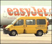 EasyJet aircraft at Bristol airport