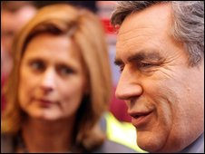 Sarah Brown and Gordon Brown