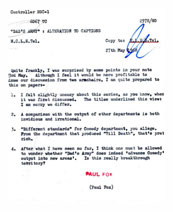 A memo from Paul Fox to Michael Mills about Dad's Army.