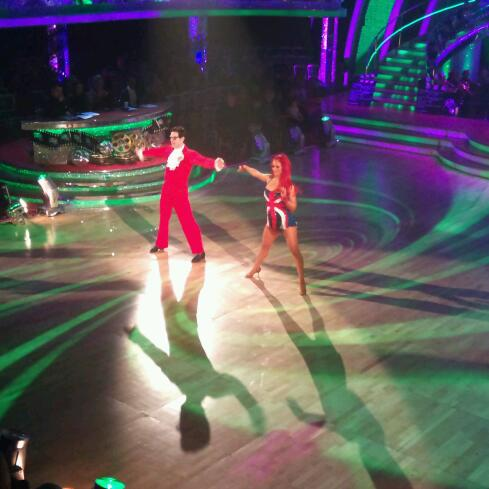 Matt Baker and Aliona Vilani in Strictly Come Dancing's rehearsal