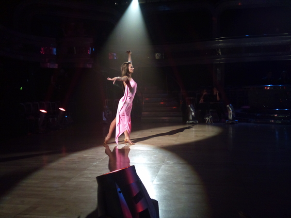 Kara Tointon in the Strictly Come Dancing dress rehearsal