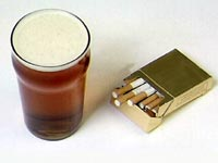 Cigarettes and beer