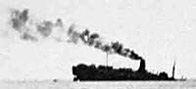 Photograph showing the actual sinking of the Lancastria