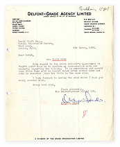 A letter from Michael Grade about Clive Dunn.