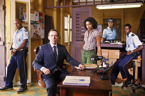 Image of the cast of BBC One detective drama, Death in Paradise.